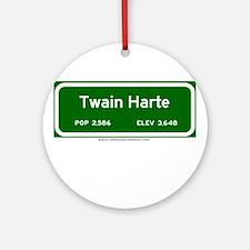 Twain Harte Ornament (Round)