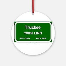 Truckee Ornament (Round)