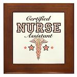 Certified Nurse Assistant Framed Tile