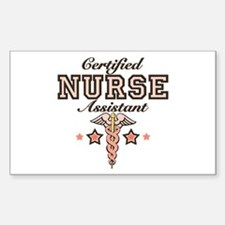 Certified Nurse Assistant Rectangle Decal