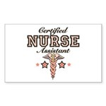 Certified Nurse Assistant Rectangle Sticker 10 pk