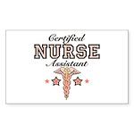 Certified Nurse Assistant Rectangle Sticker 50 pk
