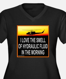 SMELL OF HYDRAULIC FLUID Women's Plus Size V-Neck