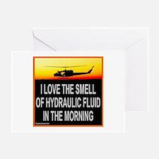 SMELL OF HYDRAULIC FLUID Greeting Card