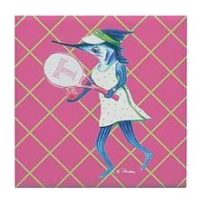 Tennis Trixie Tile Coaster