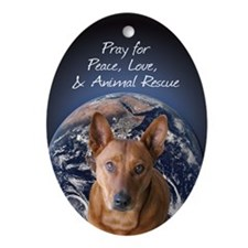 Animal Rescue Ornament (Oval)