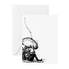 Cute Little man taking little break Greeting Cards (Pk of 10)