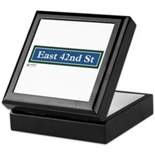 East 42nd Street in NY Keepsake Box