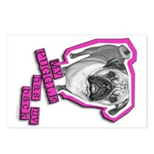 My Puggle has my back! Postcards (Package of 8)