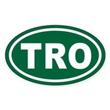 TRO Euro Oval Oval Sticker (10 pk)