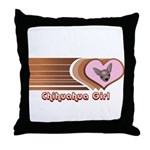 Chihuahua Girl Throw Pillow