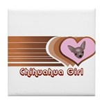 Chihuahua Girl Tile Coaster
