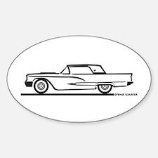 1959 Ford Thunderbird Hardtop Oval Decal
