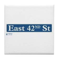 East 42nd Street in NY Tile Coaster