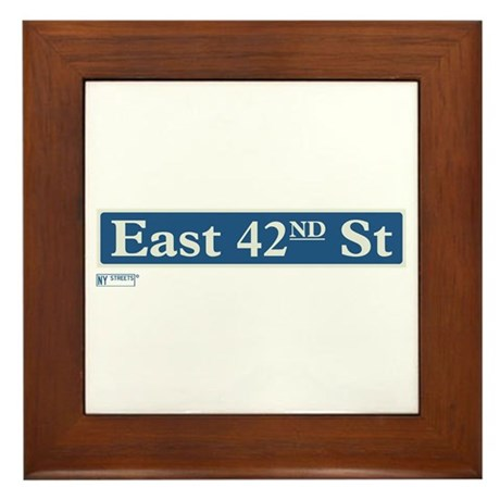East 42nd Street in NY Framed Tile