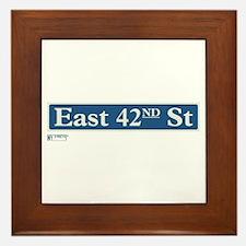 East 42nd Street in NY Framed Tile