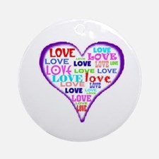 LOVERS HEART Ornament (Round)