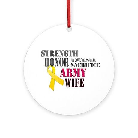 Army Wife Christmas Ornament