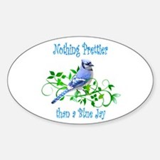 Blue Jay Oval Decal