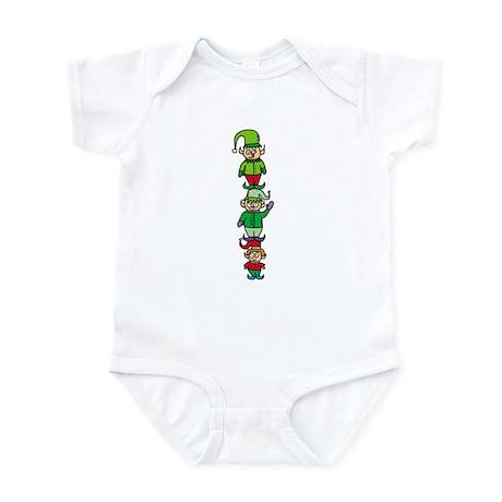 Stacked Elves Infant Bodysuit