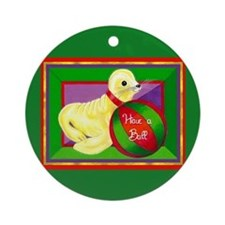 Christmas Seal Ornament (Round)