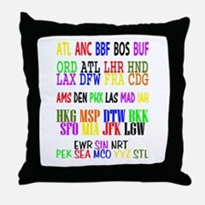 Airport Code Throw Pillow