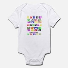 Airport Code Infant Bodysuit