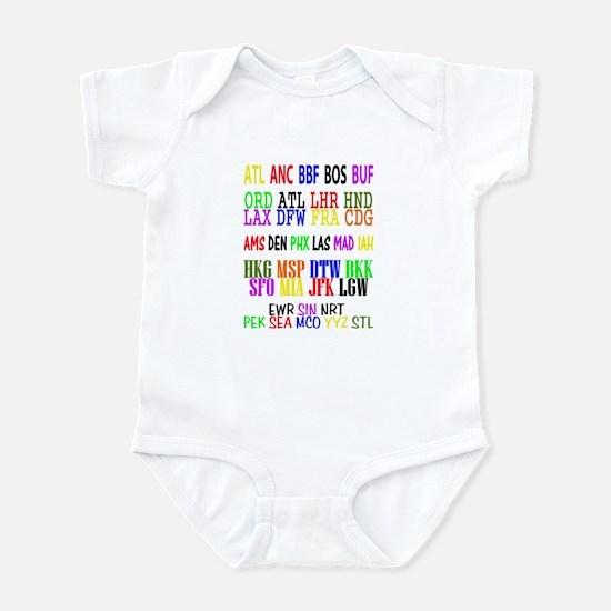 Airport Code Infant Bodysuit
