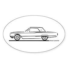 1964 Ford Thunderbird Hardtop Oval Decal