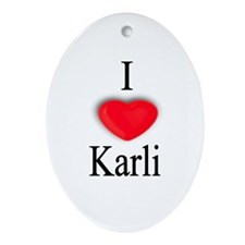 Karli Oval Ornament