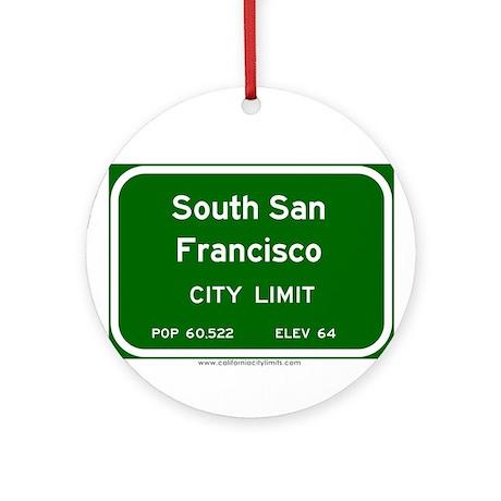 South San Francisco Ornament (Round)