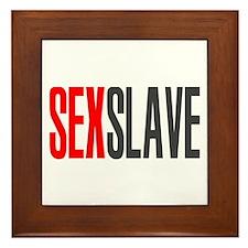Sex Slave Framed Tile