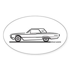 1966 Ford Thunderbird Hardtop Oval Decal