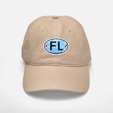 Fort Lauderdale FL - Oval Design Baseball Baseball Cap