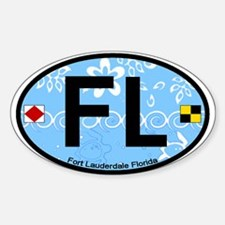 Fort Lauderdale FL - Oval Design Oval Decal