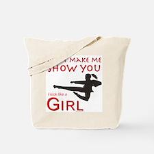 Funny Taekwondo girl Tote Bag