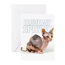 Sphynx Greeting Cards (Pk of 10)