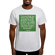 Dog Devotion Ash Grey T-Shirt