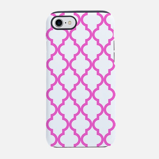 Pink Moroccan Pattern (Reverse iPhone 7 Tough Case