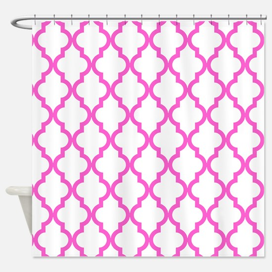 Pink Moroccan Pattern (Reverse) Shower Curtain