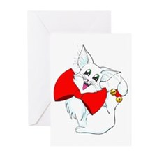 Unique Cat christmas Greeting Cards (Pk of 10)