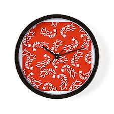 Japanese textile Lobster(Ebi) Wall Clock