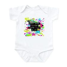 Funny Jackson pollock Infant Bodysuit