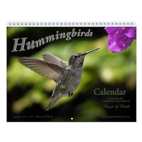 Beautiful Hummingbirds and Flowers Wall Calendar