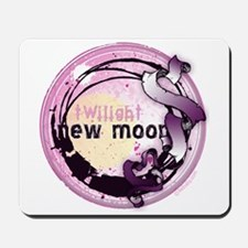 New Moon Grunge Ribbon Crest Mousepad