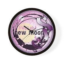 New Moon Grunge Ribbon Crest Wall Clock