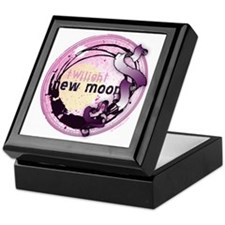 New Moon Grunge Ribbon Crest Keepsake Box