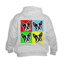 Boston Terrier Four Faces Hoodie