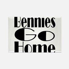 Bennies Go Home Rectangle Magnet