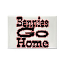 Go Home Bennies Rectangle Magnet